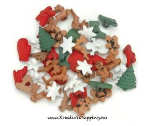 Bilde av Dress it up - Buttons - 1168 - Jul - CHRISTMAS MINIATURES