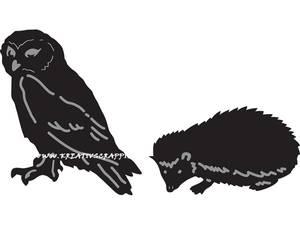 Bilde av Marianne Design - Craftables dies - CR1339 - TINYS ANIMALS - OWL