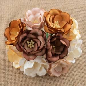 Bilde av Flowers - Magnolias - SAA-450 - Mixed Colour Earth Tone - 50stk