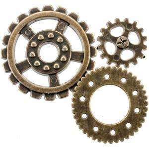 Bilde av Blumenthal - Steampunk Buttons - 1810 - Antique Gold Gear