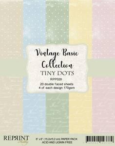 Bilde av Reprint - 6x6 - RPP028 - Vintage Basic Collection Tiny Dots pack