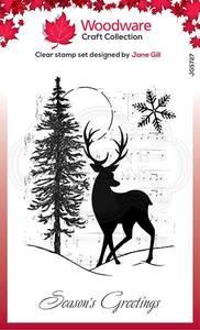 Bilde av Woodware - JGS727 - Clear stamp - Musical Deer