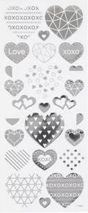 Bilde av Creotime - Stickers - 29140 - Silver - Hearts