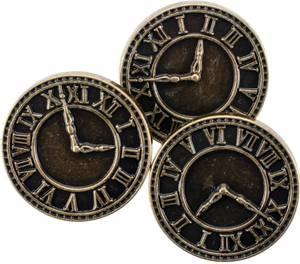 Bilde av Blumenthal - Steampunk Buttons - 1816 - Antique Gold Clock