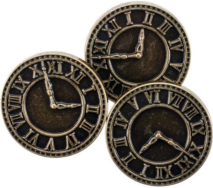 Blumenthal - Steampunk Buttons - 1816 - Antique Gold Clock