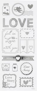 Bilde av Creotime - Stickers - 29142 - Silver - Love
