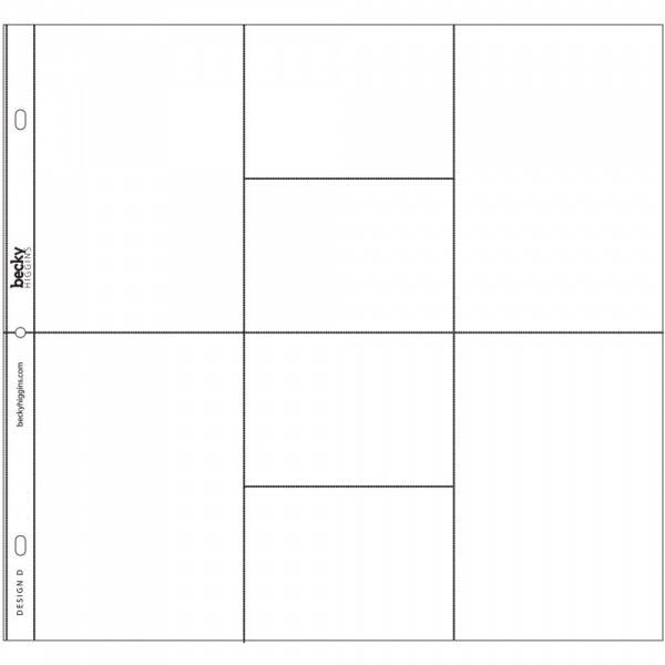 Project Life - 380007 - Photo Pocket Pages - DESIGN D - 12 STK