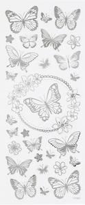 Bilde av Creotime - Stickers - 29143 - Silver - Butterflies