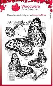 Bilde av Woodware - FRS829 - Clear stamp - Three Butterflies