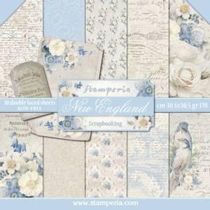 Bilde av Stamperia - 12x12 Paper Pack - 13 - New England