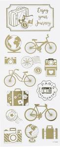 Bilde av Creotime - Stickers - 29144 - Gold - Around the World