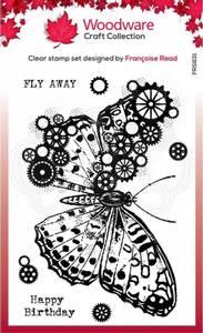 Bilde av Woodware - FRS831 - Clear stamp - Cog Butterfly