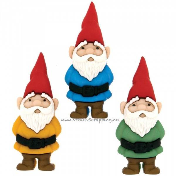 Dress it up - Buttons - 7696 - Jul - GARDEN GNOMES