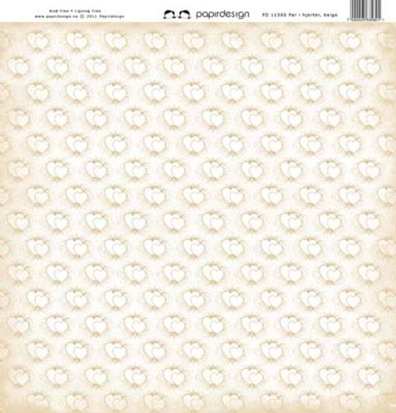 Papirdesign PD11560 - Par i hjerter beige