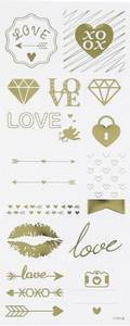 Bilde av Creotime - Stickers - 29148 - Gold - Love