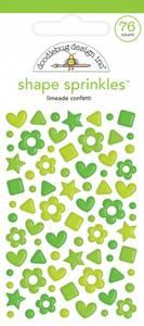Bilde av Doodlebug - 6707 - Shape Sprinkles - Limeade