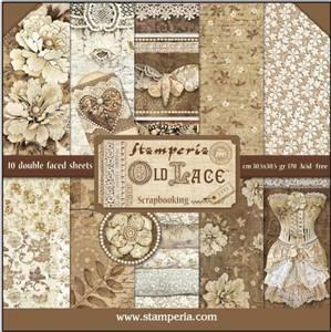 Bilde av Stamperia - 12x12 Paper Pack - 32 - Old Lace