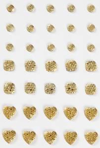 Bilde av Vivi Gade - Rhinstones - 6-10 mm - Round, Square, Heart - Gull