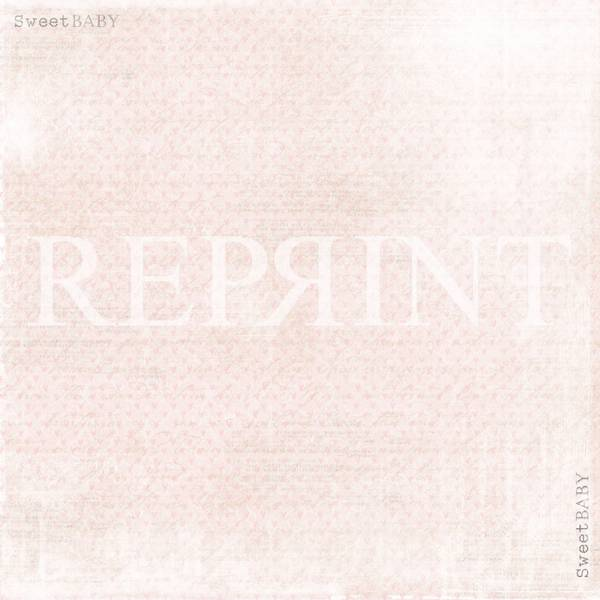 Reprint - 12x12 - RP0297 - Sweet Baby - Pink Hearts