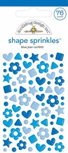 Bilde av Doodlebug - 6709 - Shape Sprinkles - Blue Jean