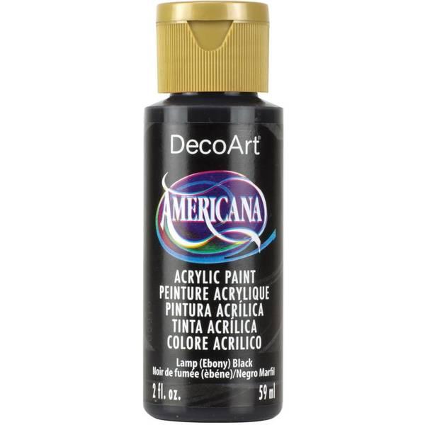 Americana Acrylic Paint - Ebony Black - Opaque 2oz