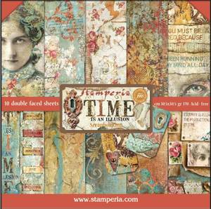 Bilde av Stamperia - 12x12 Paper Pack - 33 - Time is an Illusion