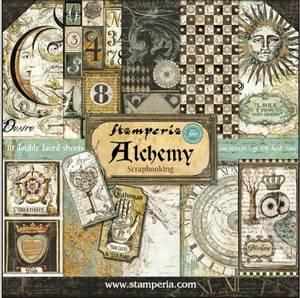 Bilde av Stamperia - 12x12 Paper Pack - 34 - Alchemy