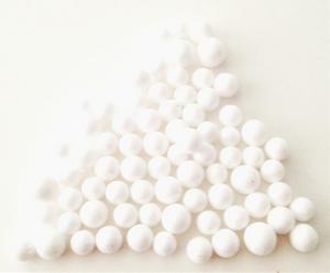 Bilde av Snø kuler - små - Hvite med glitter