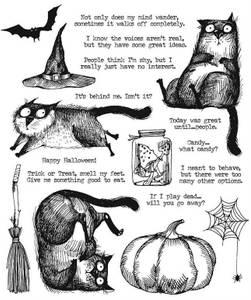 Bilde av Tim Holtz - Stampers Anonymous - CMS407 - Snarky Cat  Halloween