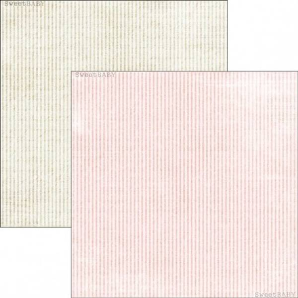 Reprint - 12x12 - RP0299 - Sweet Baby - Pink Stripes