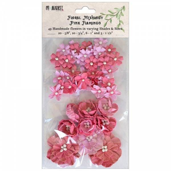 49 and Market - Floral Mixology Paper Flowers - Pink Flamingo