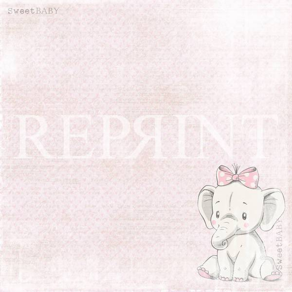 Reprint - 12x12 - RP0301 - Sweet Baby - Pink Elephant