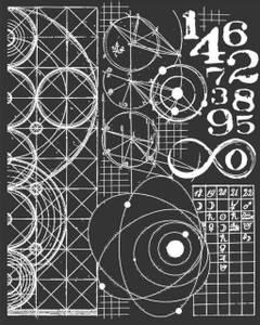 Bilde av Stamperia - Stencil - 20x25cm - 42 - Cosmos Astronomy & Numbers