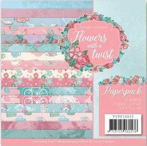 Bilde av Find It - Paperpack 6x6 YCPP10022 - Yvonne - Flowers with a twis