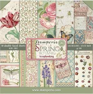 Bilde av Stamperia - 12x12 Paper Pack - 50 - Spring Botanic