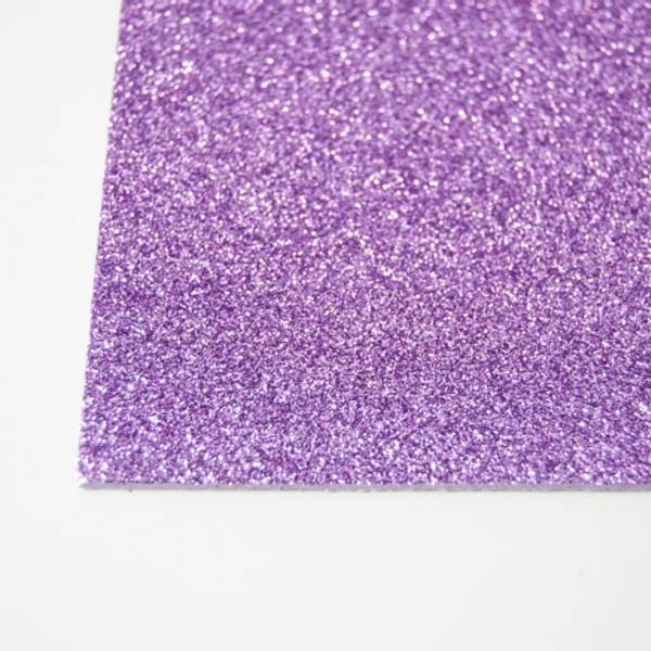 Kort & Godt - FO214 - Mosegummi Glitter - Lilla
