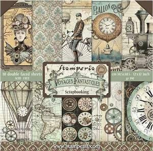 Bilde av Stamperia - 12x12 Paper Pack - 53 - Voyages Fantastiques