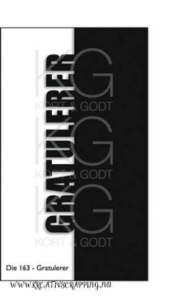 Kort & Godt - Die 163 - Gratulerer
