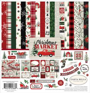 Bilde av Carta Bella - Christmas Market - 12x12 Collection Kit