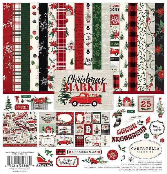Carta Bella - Christmas Market - 12x12 Collection Kit