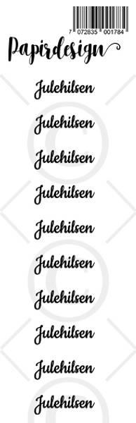 Papirdesign - Transparent Stickers - 1900177 - Julehilsen 2