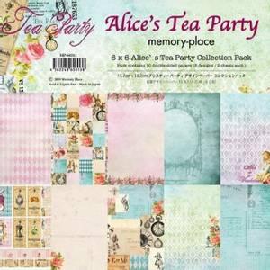 Bilde av Memory Place - Alice's Tea Party - 6x6 Paper Pack