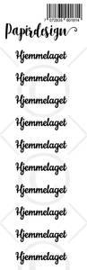 Bilde av Papirdesign - Transparent Stickers - 1900181 - Hjemmelaget, sort