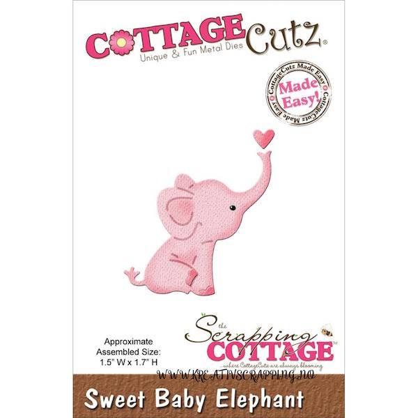 CottageCutz - MINI163 - Sweet Baby Elephant