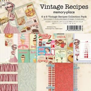 Bilde av Memory Place - Vintage Recipes - 6x6 Paper Pack
