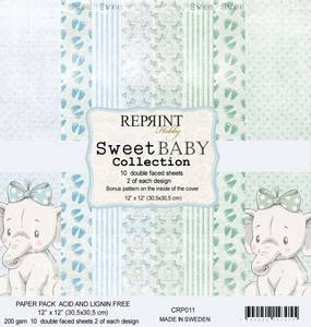 Bilde av Reprint - 12x12 - CRP011 - Sweet Baby Blue Collection Pack