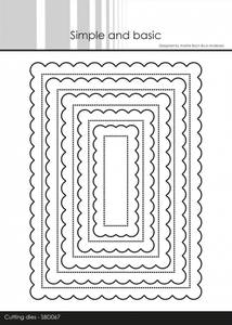Bilde av Simple and basic - Dies - SBD067 - Pierced Scalloped Rectangles