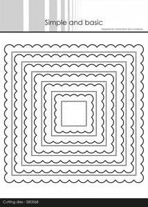 Bilde av Simple and basic - Dies - SBD068 - Pierced Scalloped Squares