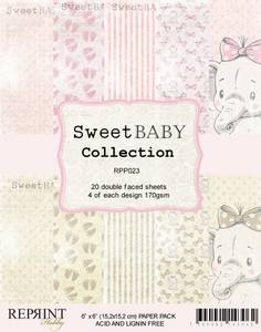 Bilde av Reprint - 6x6 - RPP023 - Sweet Baby Collection pack Pink