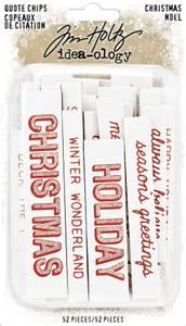 Bilde av Tim Holtz - Idea-Ology - TH93998 - Quote Chips Christmas (52pcs)